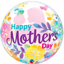 "Mothers Day Silhouette Bubble Balloon (22"") 1pc"